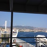 Photo taken at Porto di Messina by Lina C. on 9/8/2012