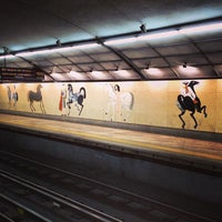 Photo taken at Metro Campo Pequeno [AM] by Tiago G. on 9/27/2013