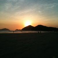 Photo taken at Praia de Juquehy by Pri M. on 11/10/2013