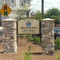 Photo taken at Brunswick City Hall by Timothy R. on 7/22/2013
