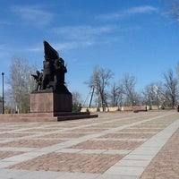 Photo taken at Мемориал Героям Ольшанцам by S.Limanoff on 4/17/2013
