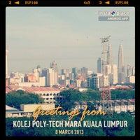 Photo taken at Kolej Universiti Poly-Tech MARA Kuala Lumpur by Eric Z. on 3/8/2013
