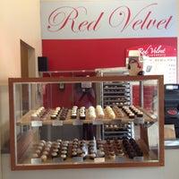 Photo taken at Red Velvet Cupcakery by Karl T. on 4/10/2013
