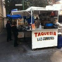 Photo taken at Taqueria Los Cuñados by Mauricio F. on 1/19/2013