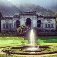 Photo taken at Parque Lage by Rapha O. on 7/14/2013