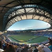 Photo taken at Metalist Stadium by Oleg Y. on 7/26/2013