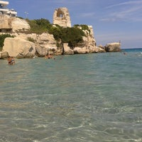 Photo taken at Spiaggia di Torre dell'Orso by Eleonora M. on 9/15/2013