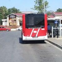 Photo taken at Bornova Metro Otobüs Durağı by Snm T. on 7/3/2013
