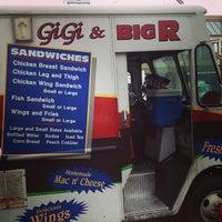 Photo taken at Gigi & Big R Caribbean Soul Food Cart by Andrew C. on 4/19/2013