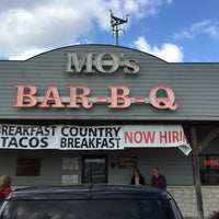 Photo taken at Mo's BBQ by Willie F. on 3/19/2016