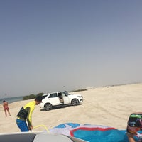 Photo taken at Yas Island Beach by Naghmeh H. on 4/29/2017