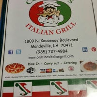 Photo taken at Coscino's Italian Grill by Stephen P. on 11/8/2015