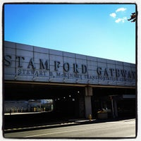 Photo taken at Stamford Transportation Center : Bus/Train (STM) Metro North & Amtrak by Derek D. on 9/23/2012