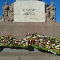 Photo taken at Freedom Monument by Kristiāna L. on 5/5/2013