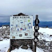 Photo taken at 硫黄岳山頂 by Risetu N. on 1/8/2017