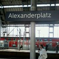 Photo taken at Bahnhof Berlin Alexanderplatz by Michael H. on 4/21/2013
