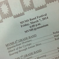 Photo taken at Mount Vernon Middle School by Kate @. on 3/7/2014
