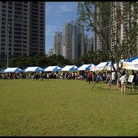 Photo taken at 일산자이 중앙공원 by QO C. on 9/22/2012