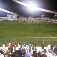 Photo taken at Estádio Cornélio de Barros (Salgueirão) by Jefferson N. on 4/20/2013
