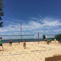 Photo taken at Whiskey Island Volleyball Courts by Luis C. on 8/13/2017