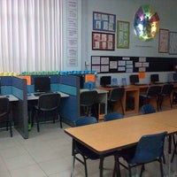 Photo taken at Library Sekolah Global Indo Asia (SGIA) by Lee M. on 5/14/2013