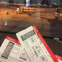 Photo taken at Gate 234 by Burcu on 4/15/2018