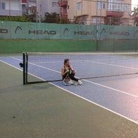 Photo taken at Tenis Kortları by ZEYNEP N. on 6/10/2016