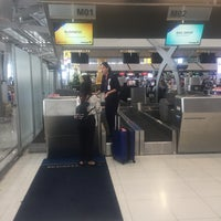 Photo taken at Malaysia Airlines (MH) Check-In Area by Robert B. on 4/1/2018
