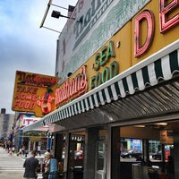 Photo taken at Nathan's Famous by Brian W. on 7/12/2013