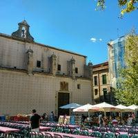 Photo taken at Plaça del Rei by Myra M. on 9/18/2016