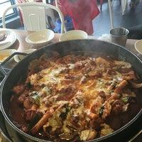 Photo taken at 백종원의 철판요리 전문점 철판 by Christabel C. on 6/9/2016