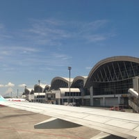 Photo taken at Sultan Hasanuddin International Airport (UPG) by Andee Y. on 4/2/2013