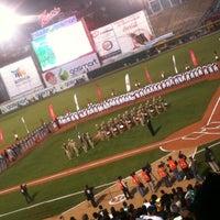 Photo taken at Estadio Gasmart by Cesar L. on 4/5/2013