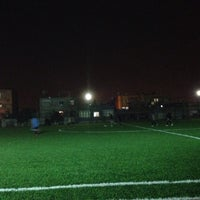 Photo taken at demir futbol sahası by ( Kamuran ) on 2/18/2014