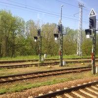 Photo taken at Bahnhof Frankfurt (Oder) by Юлия С. on 5/16/2013