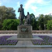 Photo taken at Памятник «Пушкин и крестьянка» by Denis P. on 8/6/2013