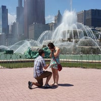 Photo taken at Clarence Buckingham Memorial Fountain by Michelle on 7/20/2013