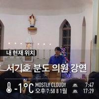 Photo taken at 의정부 주교좌성당 대성전 by Wonjun J. on 1/8/2014