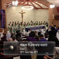Photo taken at 의정부 주교좌성당 대성전 by Wonjun J. on 9/4/2013