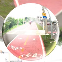 Photo taken at Ciclovia Beira Rio by Victor I. on 10/18/2014