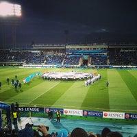 Photo taken at Стадион «Петровский» by Mikhail G. on 10/1/2013