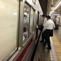 Photo taken at Tsukiji Station (H10) by Ken U. on 6/20/2014