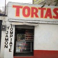 Photo taken at Tortas de Tompiate by Marco I. on 9/3/2013