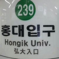 Photo taken at Hongik Univ. Stn. by Seok Ethan K. on 2/20/2013