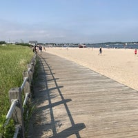Photo taken at Silver Sands State Park Boardwalk by Joshua on 6/18/2017