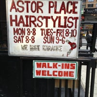 Photo taken at Astor Place Hairstylists by Joshua on 3/2/2013