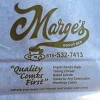 Photo taken at Marge's Donut Den by Kelly C. on 3/5/2013