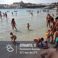 Photo taken at Lido di Otranto by Selene C. on 7/20/2013