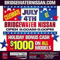 Photo taken at Bridgewater Nissan by Eric H. on 7/3/2013