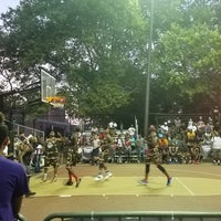 Photo taken at Rucker Park Basketball Courts by Frank D. on 8/5/2016